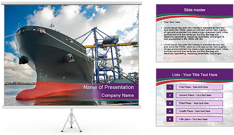 Huge Tanker PowerPoint Template