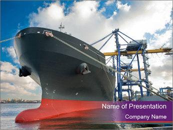 Huge Tanker PowerPoint Template - Slide 1