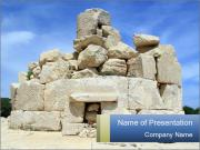 Ruins Of Piramide PowerPoint Template