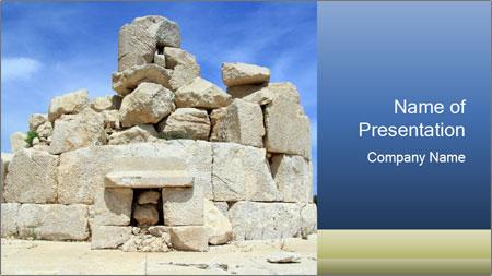 Ruins Of Piramide PowerPoint Template
