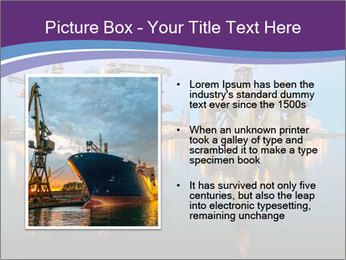 Shipyard At Night PowerPoint Template - Slide 13