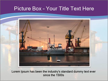 Shipyard At Night PowerPoint Template - Slide 15