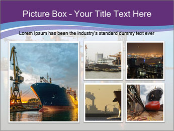 Shipyard At Night PowerPoint Template - Slide 19
