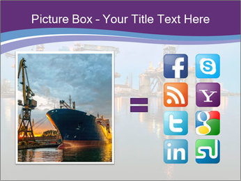 Shipyard At Night PowerPoint Templates - Slide 21