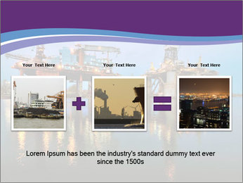 Shipyard At Night PowerPoint Template - Slide 22