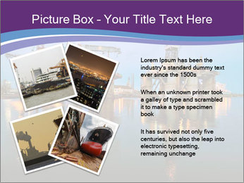 Shipyard At Night PowerPoint Template - Slide 23