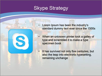 Shipyard At Night PowerPoint Template - Slide 8