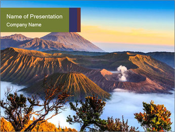 Mountain Landscape PowerPoint Template - Slide 1