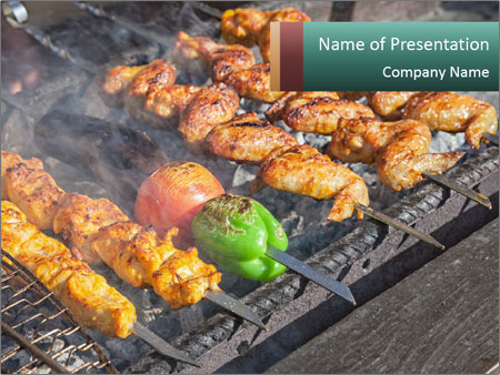 Chicken BBQ PowerPoint Templates