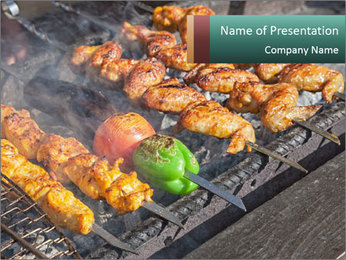 Chicken BBQ PowerPoint Templates - Slide 1