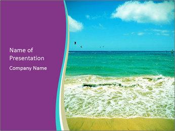 Ocean Coast PowerPoint Template - Slide 1