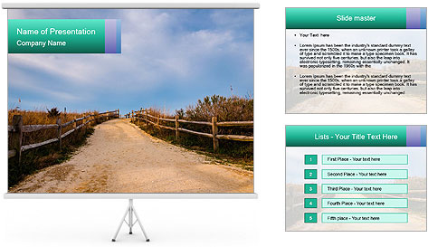 Sandy Road PowerPoint Template