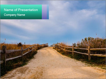 Sandy Road PowerPoint Template - Slide 1
