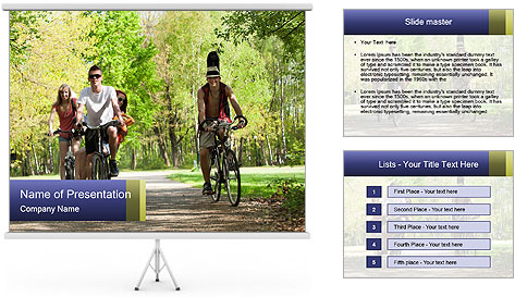 Bicycle Park Trip PowerPoint Template
