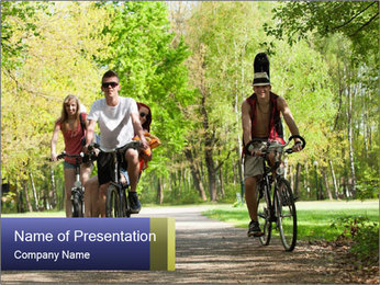 Bicycle Park Trip PowerPoint Template - Slide 1