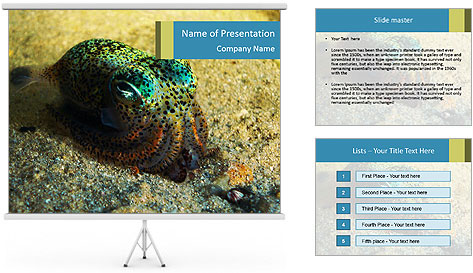 Great Marine Fish PowerPoint Template