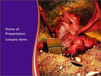 Red Dragon PowerPoint Templates - Slide 1