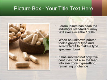 Homeopathic Pills In Wooden Spoon PowerPoint Templates - Slide 13