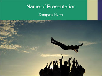 Happy Group Of Friends PowerPoint Template