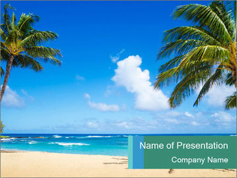 Hawaii Beach PowerPoint Template - Slide 1