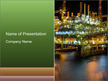 Offshore Oil Rig PowerPoint Template - Slide 1