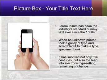 Smartphone On Wooden Table PowerPoint Template - Slide 13
