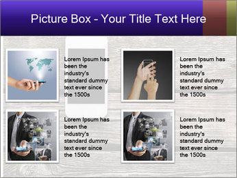 Smartphone On Wooden Table PowerPoint Template - Slide 14