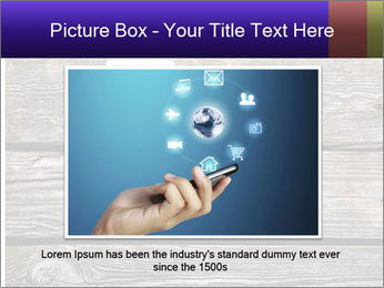 Smartphone On Wooden Table PowerPoint Template - Slide 15