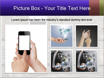 Smartphone On Wooden Table PowerPoint Template - Slide 19