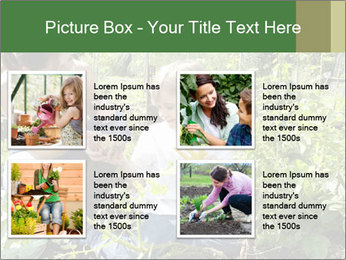 Mother And Son Playing In Garden PowerPoint Template - Slide 14