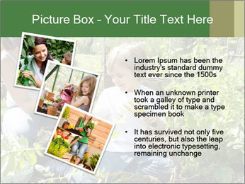 Mother And Son Playing In Garden PowerPoint Template - Slide 17