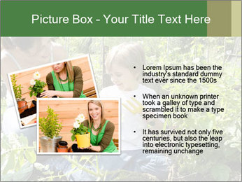 Mother And Son Playing In Garden PowerPoint Template - Slide 20