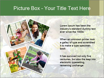 Mother And Son Playing In Garden PowerPoint Template - Slide 23