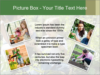 Mother And Son Playing In Garden PowerPoint Template - Slide 24
