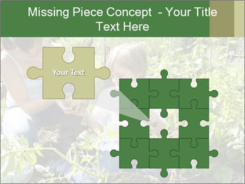 Mother And Son Playing In Garden PowerPoint Template - Slide 45