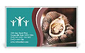 Beautiful oyster in his hand. Business Card Templates