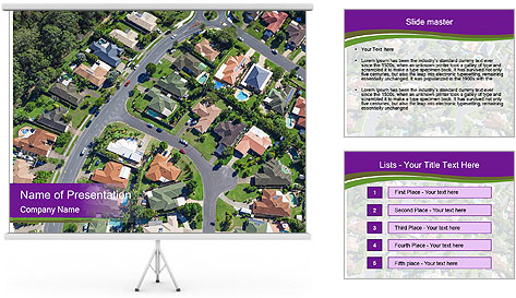 Picture country houses. PowerPoint Template