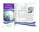 Glass office buildings. Brochure Templates