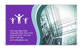 Glass office buildings. Business Card Template