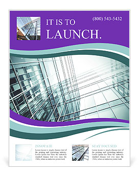 Glass office buildings. Flyer Templates