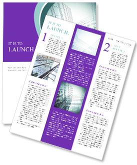Glass office buildings. Newsletter Template