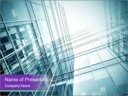 Glass office buildings. PowerPoint Templates