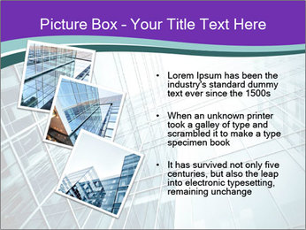 Glass office buildings. PowerPoint Template - Slide 17
