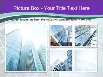 Glass office buildings. PowerPoint Template - Slide 19