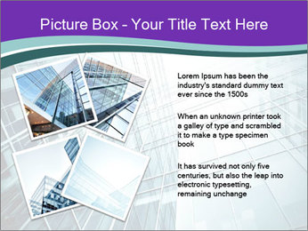 Glass office buildings. PowerPoint Template - Slide 23