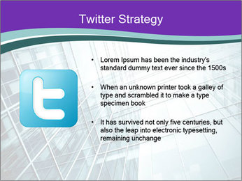 Glass office buildings. PowerPoint Template - Slide 9