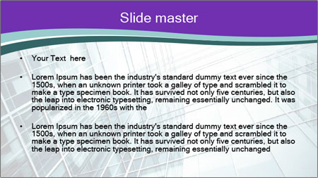 Glass office buildings. PowerPoint Template - Slide 2