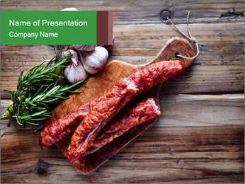 Delicious sausage. PowerPoint Template - Slide 1
