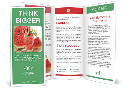 Fresh from watermelon. Brochure Template