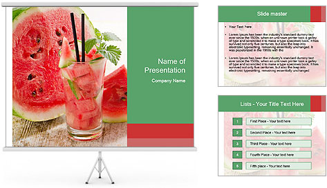 Fresh from watermelon. PowerPoint Template